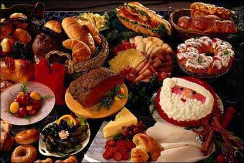 Platillo de la cena de navidad