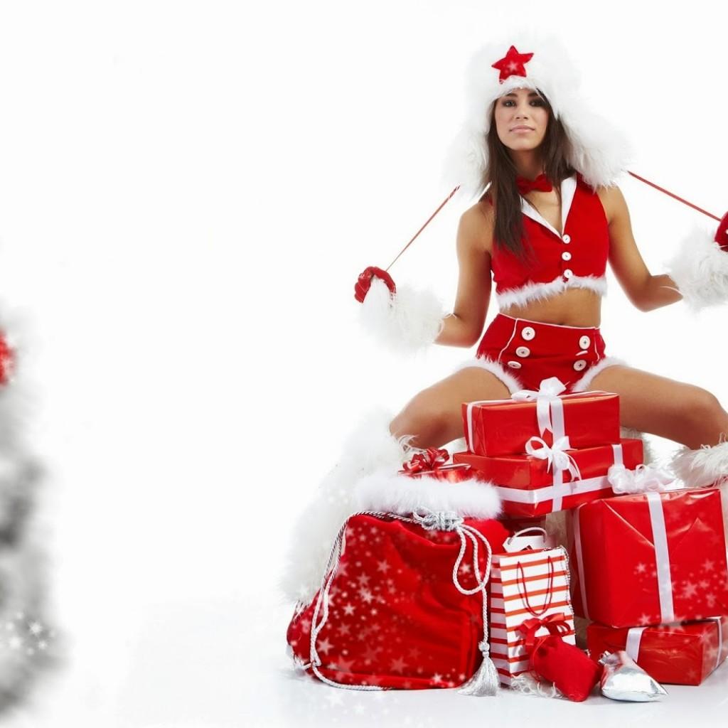 chica bonita de christmas