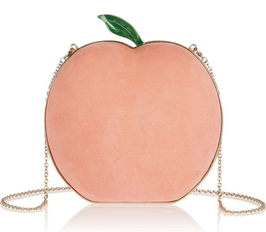 Charlotte-Olympia-What-a-Peach-Suede-Clutch