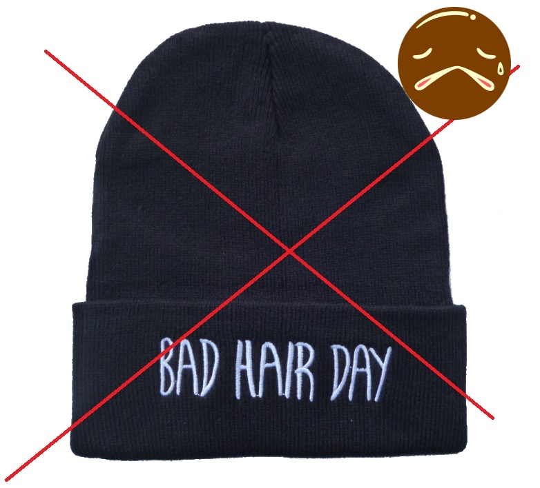Free-Shipping-4-colors-Bad-Hair-Day-Beanie-Knit-Winter-Hat-Cap-for-men-and-women