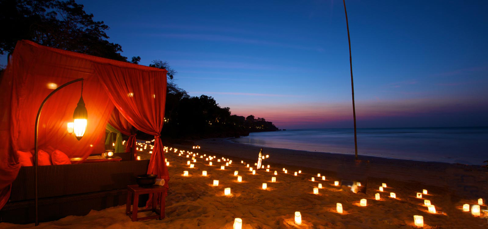 Romantic pictures at night Beach