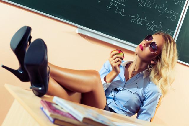 Beautiful young sexy teacher