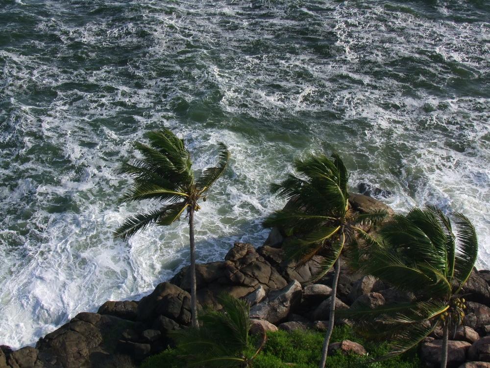 Az erős szélben is gyönyörű tenger