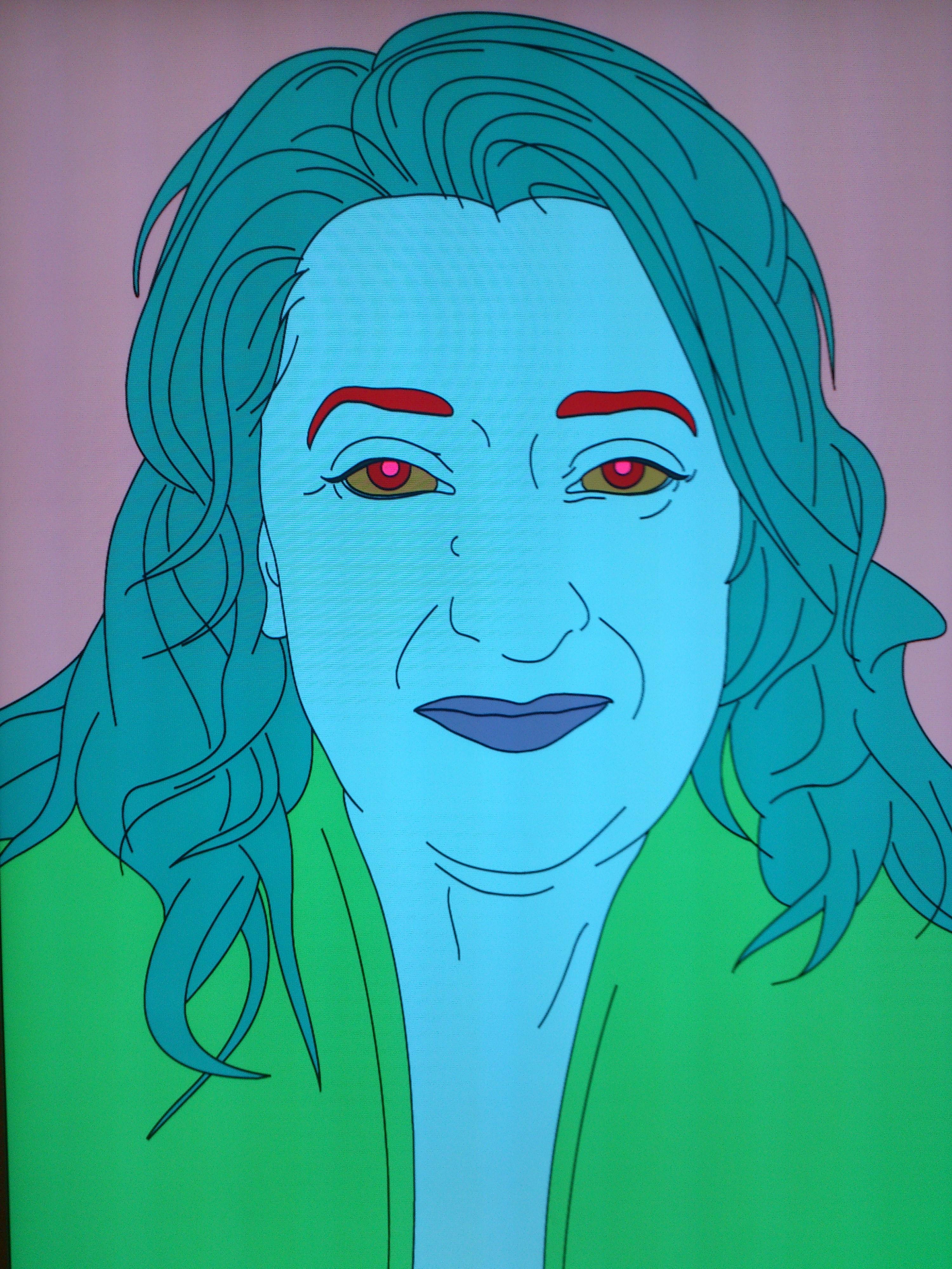 Michal Craig-Martin Zaha Hadid portréja