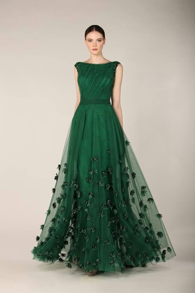 Floral-Green-Wedding-Dress