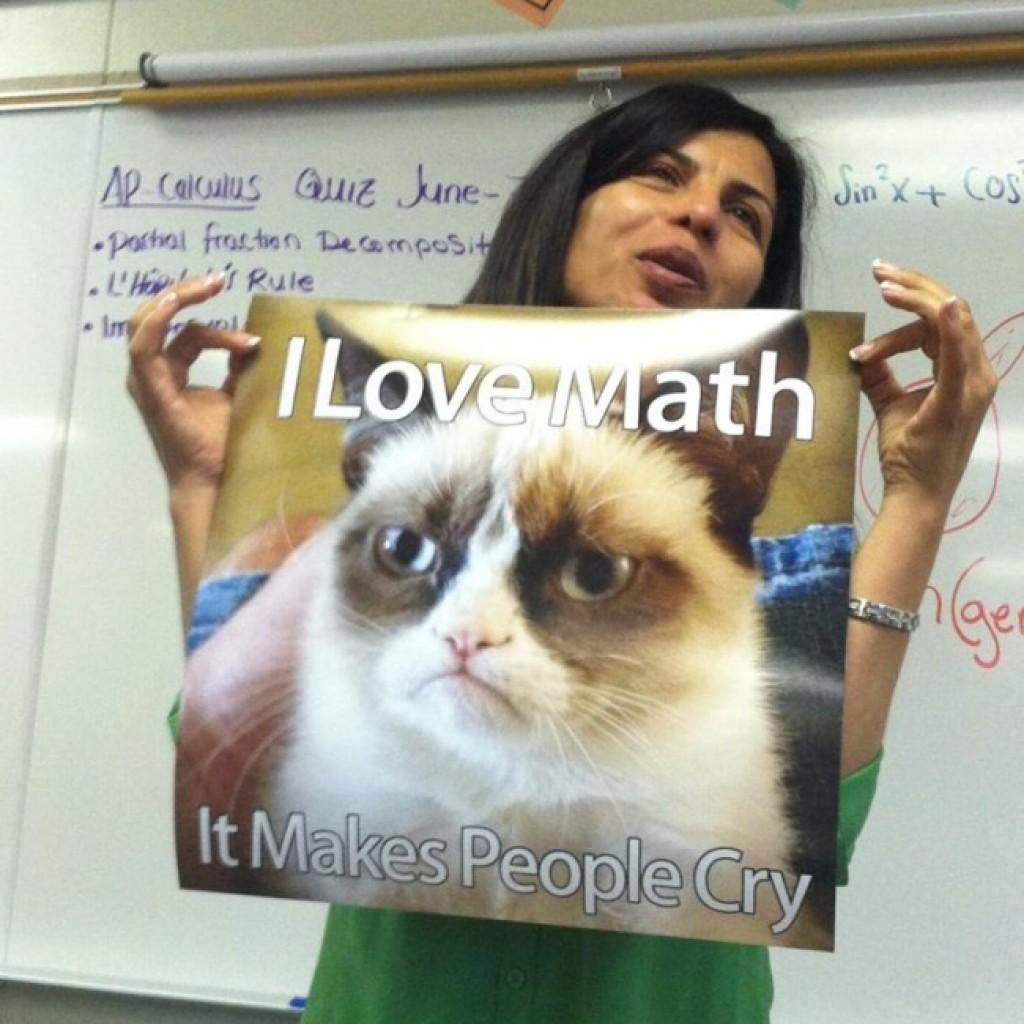 A fergeteges humorú matektanár.