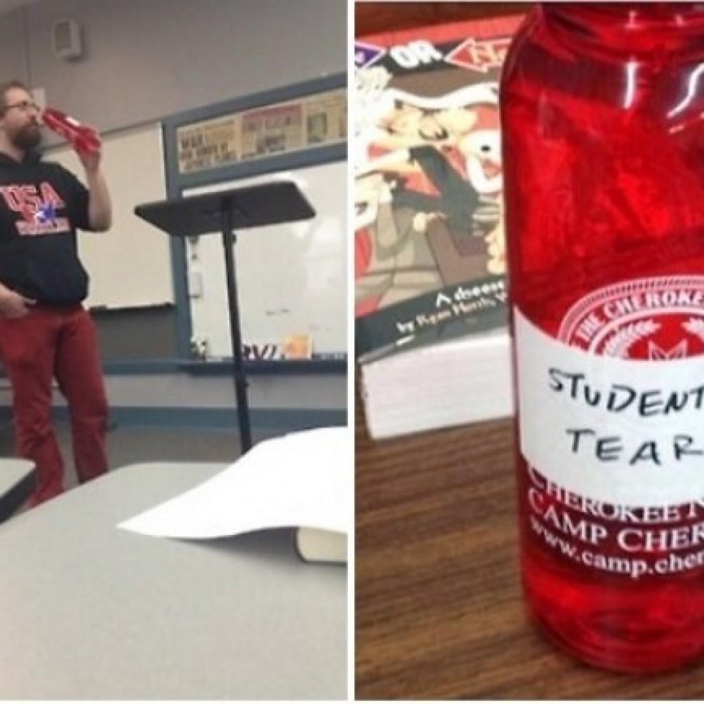 Üdítő helyett.... a diákok könnyen oltja csak igazán a tanár szomját.