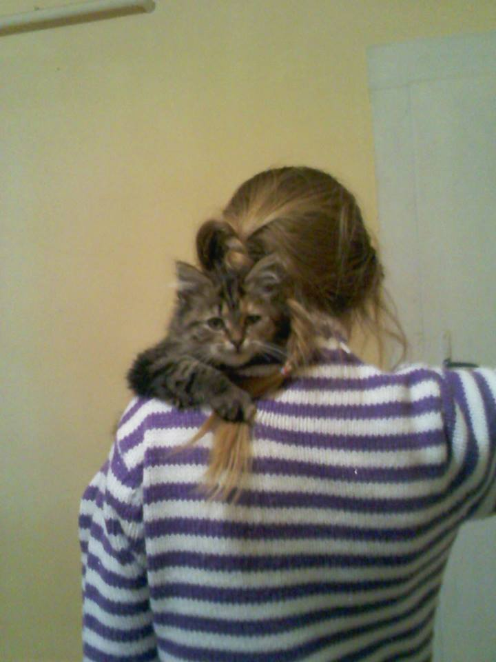 Barta Dorina és cicája