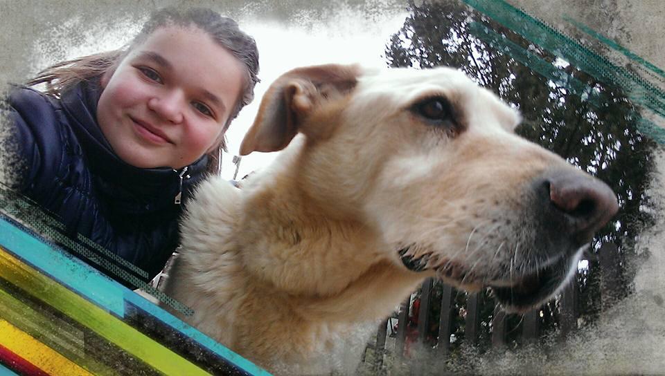 Lenygel Laura és kutyusa