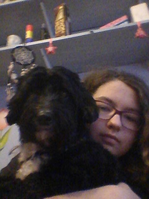 Téglás Zsófi és kutyája