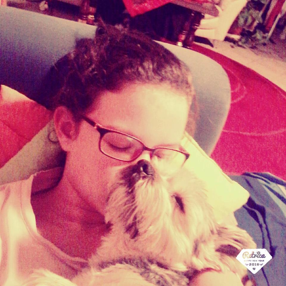 Talabér Petra és kutyusa