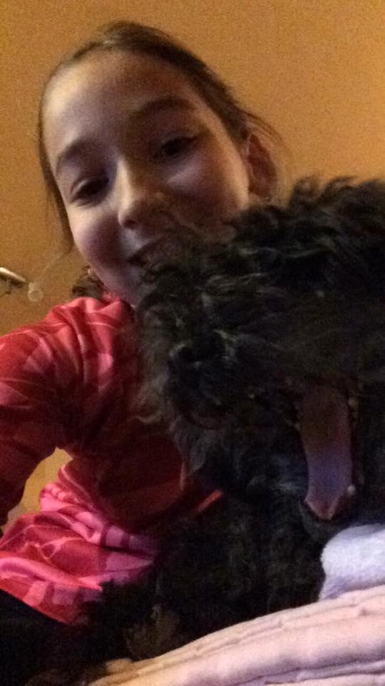 legradi-Pallos anna és kutyája