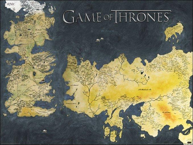 trónok harca térkép Térképen a Trónok Harca