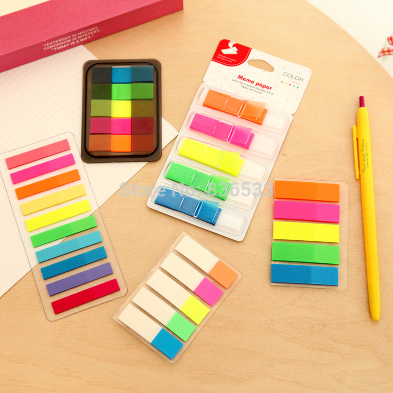 kawaii-korea-stationery-neon-classification-loose-leaf-label-n-times-stickers-sticky-diy-notepad-office-supplie