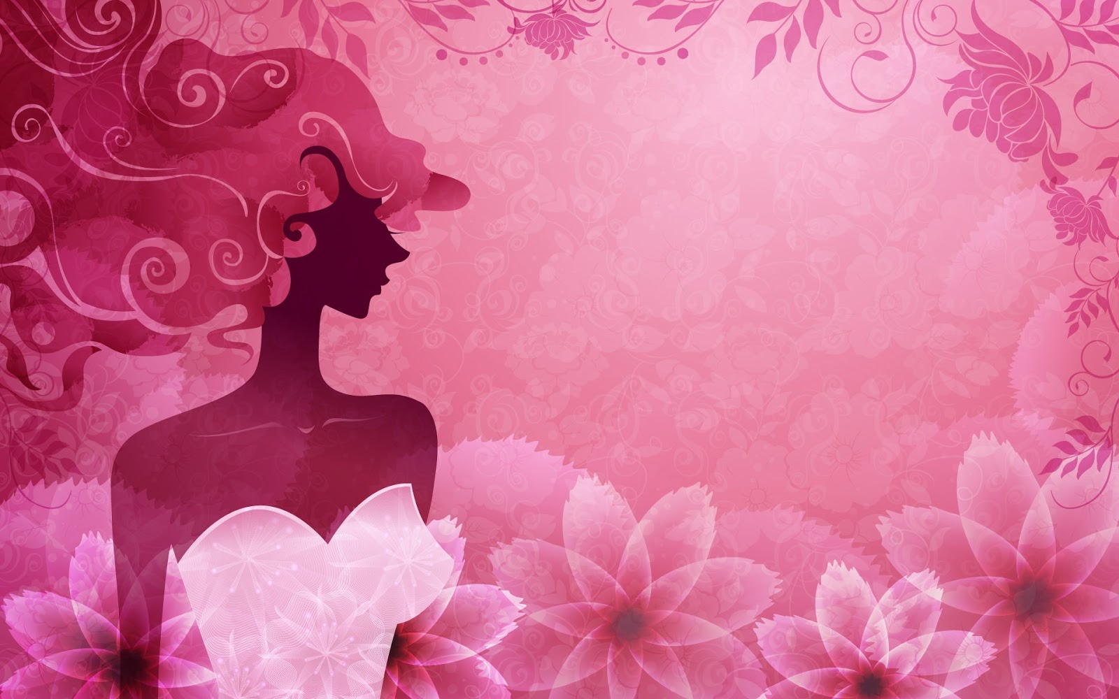 Vector-woman-pink-stylish_1920x1200